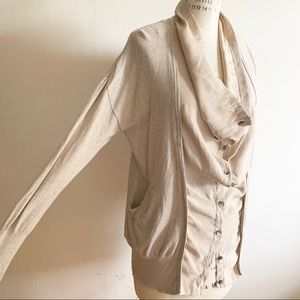 Simply Vera Vera Wang Sweaters - Simply Vera - Double Front Draped Neck Cardigan